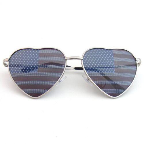 Heart Shape Sunglasses Vintage Mirror Lens New Womens Fashion Metal Frame Retro