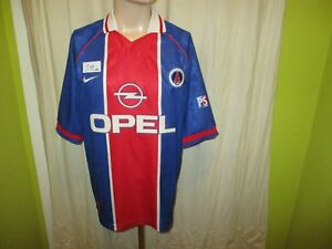Paris-St-Germain-Nike-MAISON-EUROPE-CUP-WINNER-maillot-1996-97-034-Opel-034-Taille-XL-Top