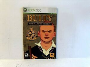 Bully-Scholarship-Edition-Xbox-360-MANUAL-ONLY-Authentic-Original