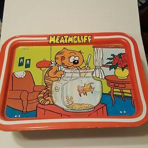 Vintage-Heathcliff-TV-Tray-1982-McNaught-Syndicate-Inc-Nice