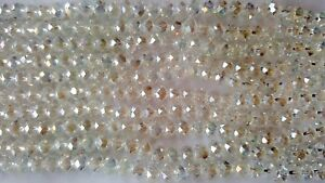 Joblot-of-10-strings-White-clear-6mm-round-shape-AB-Crystal-beads-new