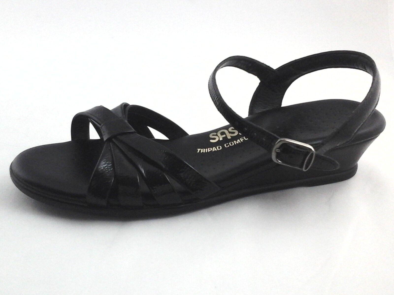 Servicio Aéreo Especial Sandalias Sandalias Sandalias Tripad Comfort Negro Correa De Tobillo Cuña strippy mujer nos 7 n  125  precioso