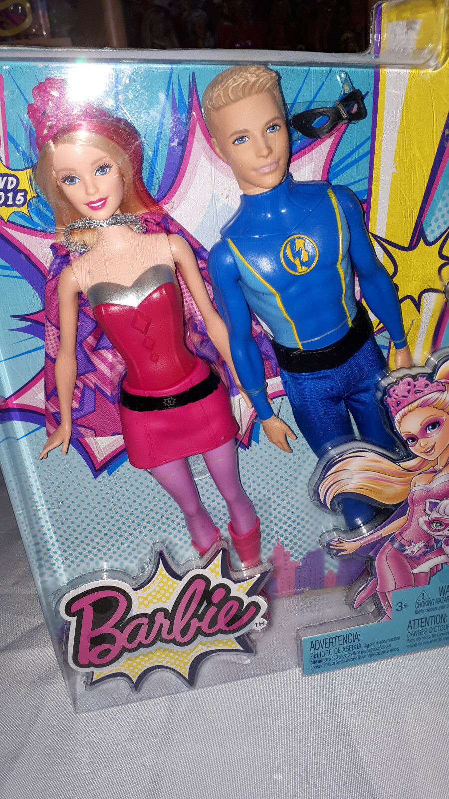 Die Superprinzessin Puppe Ovp Exklusives Set mit Super Barbie und Super Ken
