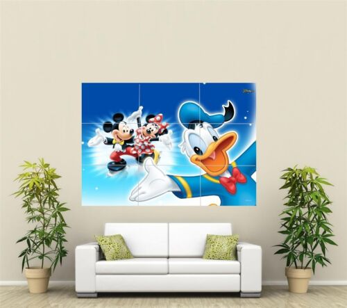 Mickey & Minnie Mouse & Donald Duck Giant XL Section Wall Art Poster KR105