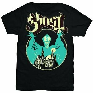 Official-GHOST-Opus-Eponymous-T-shirt-Black-Sizes-S-XXL-Papa-Popestar-Meliora