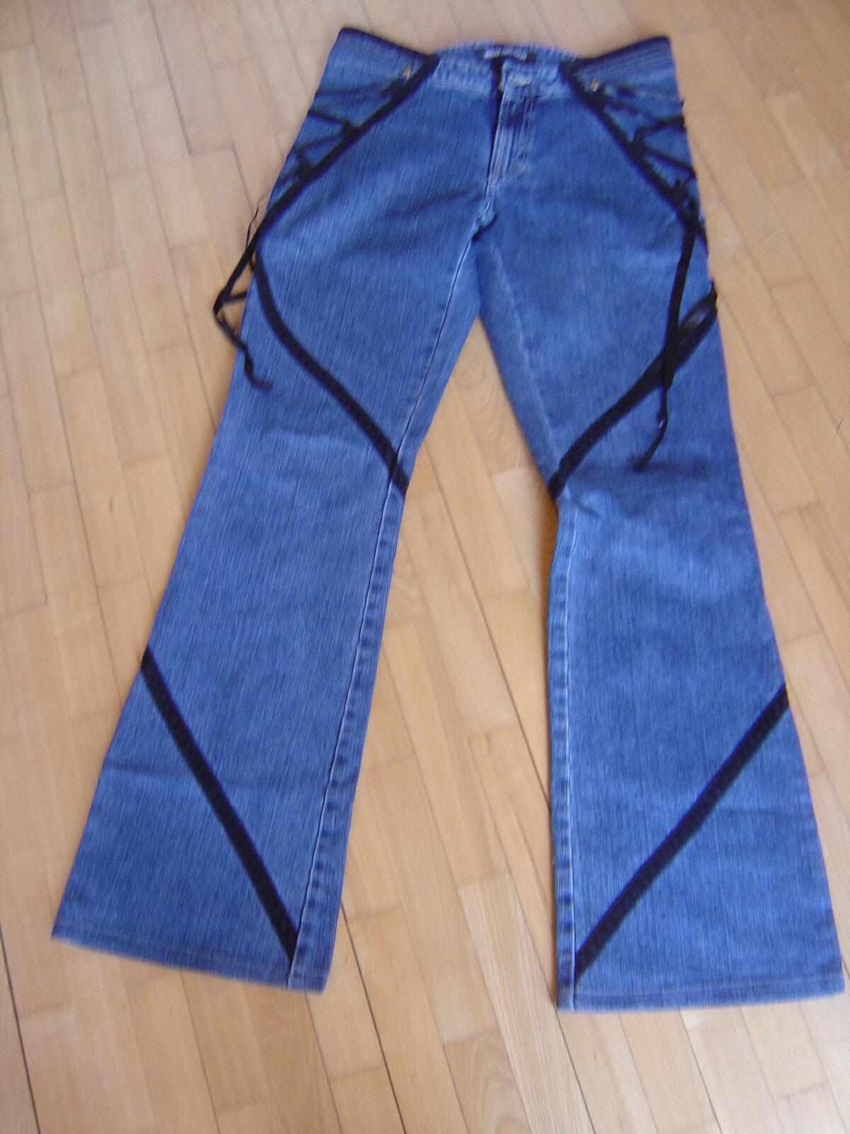 Original Versace Couture Jeans mit Satin Bändern Vintage Gr. 30 Jeans Hose  nqzcha7621-Pants 71a0bb40799c6