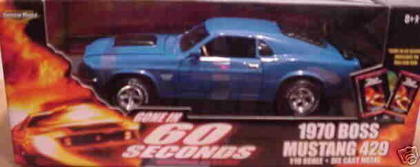 1970 Mustang Boss 429 blueE Gone in 60 Seconds 1 18 Ertl American Muscle 33028