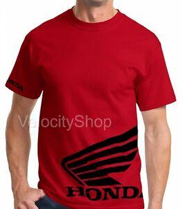 fffd312ba Honda BLACK Wing t-shirt Motorcycle Racing HRC CRF 250 450 600rr TRX ...