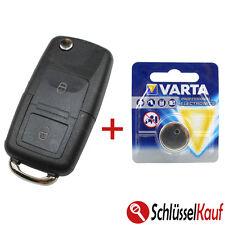 Klappschlüssel Volkswagen Skoda Seat 2 Tasten Gehäuse Auto Schlüssel + BATTERIE