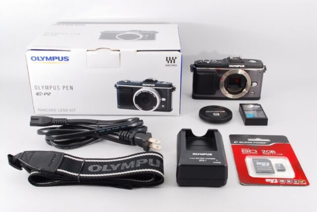 """Excellent+++++"" OLYMPUS PEN E-P2 12.3 MP Digital Camera Black Boxed from Japan"