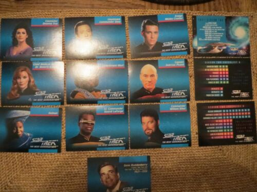 STAR TREKTHE NEXT GENERATIONSEASON TWO19881989SET OF 105 CARDS