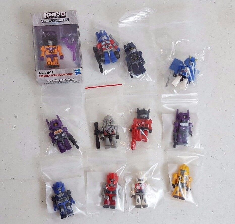 Lot of 12 G1 KRE-O Transformers Action Figures