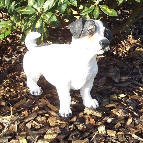 Gartenfigur Hund Jack Russell 3520 steht Garten Deko lebensecht Figur Russel