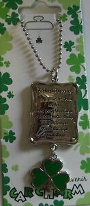 IRELAND-SOUVENIR-CAR-CHARM-AN-IRISH-BLESSING-MAY-YOUR-TROUBLES-BE-LESS