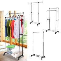 Adjustable Clothes Rack Hanger Rolling Garment Stand Display Heavy Duty V1r8