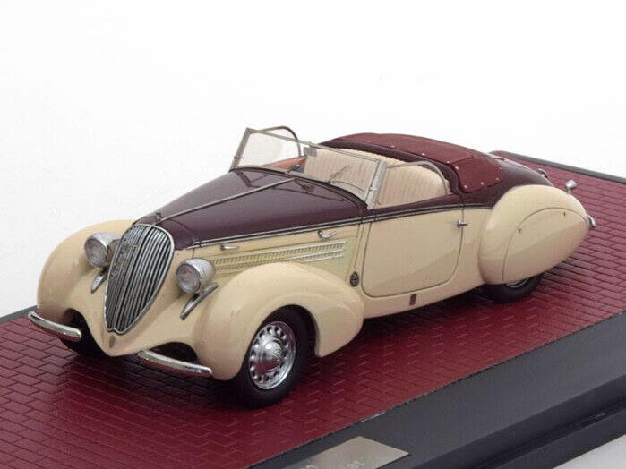 Scale model car 1 43 STEYR 220 Gleaser Sport Cabriolet 1938 Beige Maroon