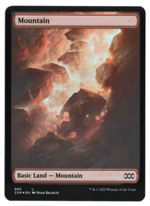 Magic the Gathering MTG Double Masters Mountain 380 FOIL