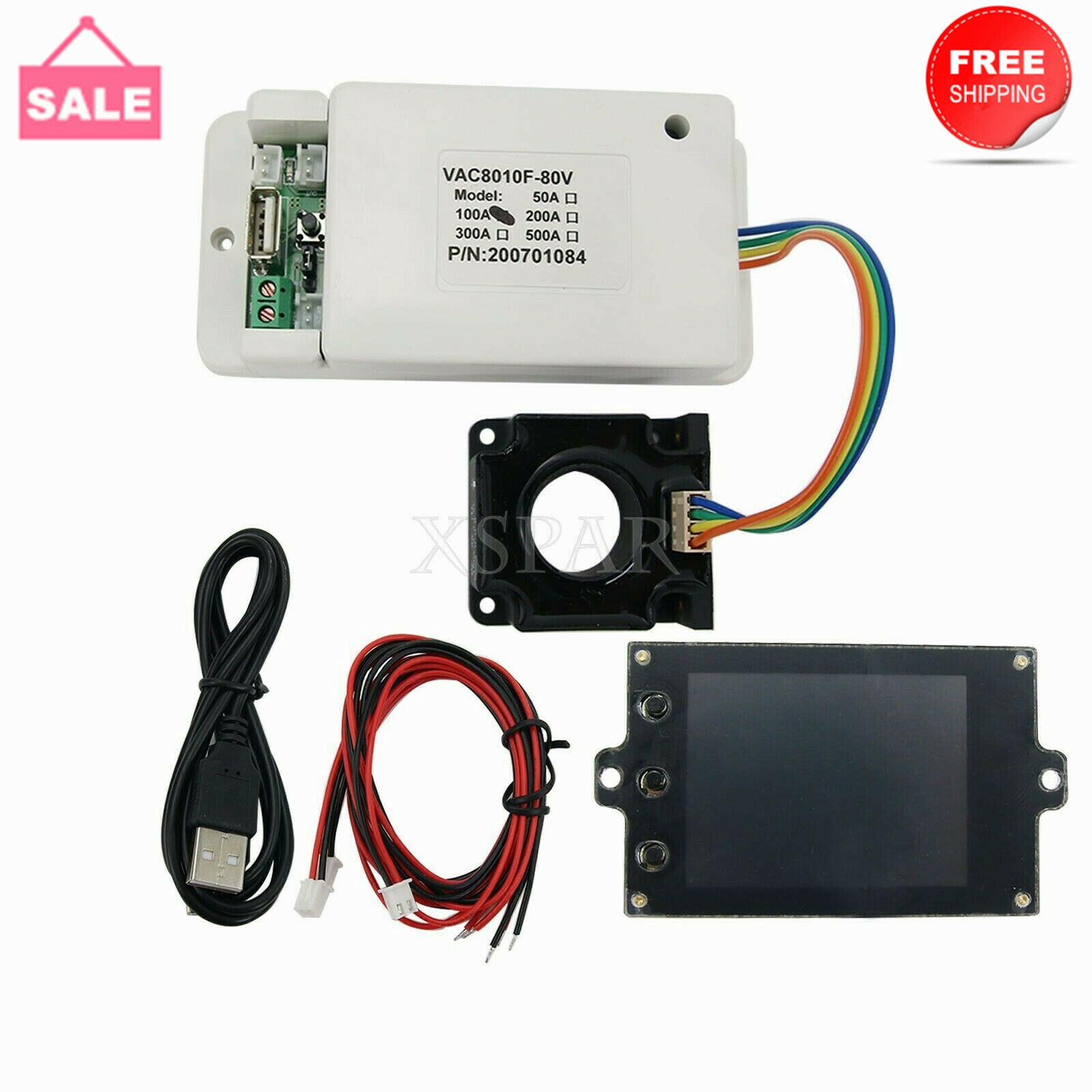 Battery Monitor Meter Wireless DC 80V 100A VOLT AMP AH SOC Remaining Capacity*