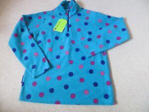 BNWT-Girls-Mountain-Warehouse-Endeavour-Blue-Spotted-Light-Weight-Fleece-Age-13