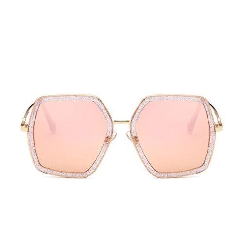 Carré de luxe femmes surdimensionné Big Cadre Miroir UV400 Lunettes de soleil