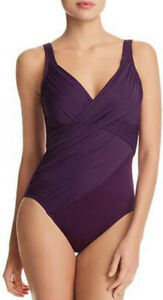 843ef380176 NWOT purple Miraclesuit Rock Solid Revele one piece swimsuit size 10 ...