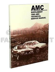 1983 amc shop manual supplement 83 spirit concord eagle repair rh ebay com