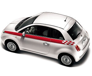 Fiat 500 Sports Side Stripes Chequered Stripes Decal Kit Correct Dealer Sizes Ebay