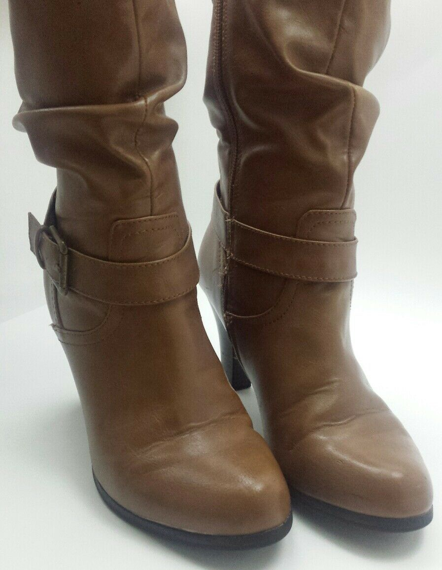 Style & Co Women's Full Zip Half-Calf Peanut Butter Light Brown Boots Size 8