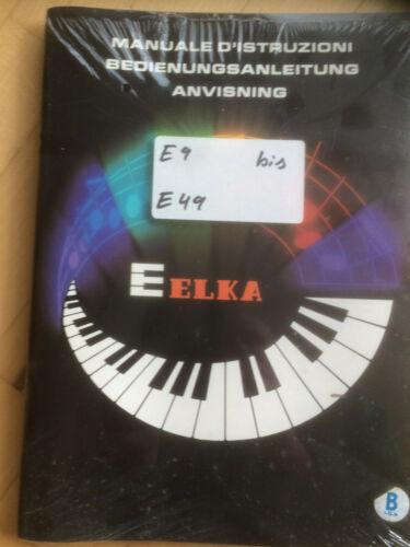 E19 E49  Anleitung  NEU E39 E29 ELKA  E9