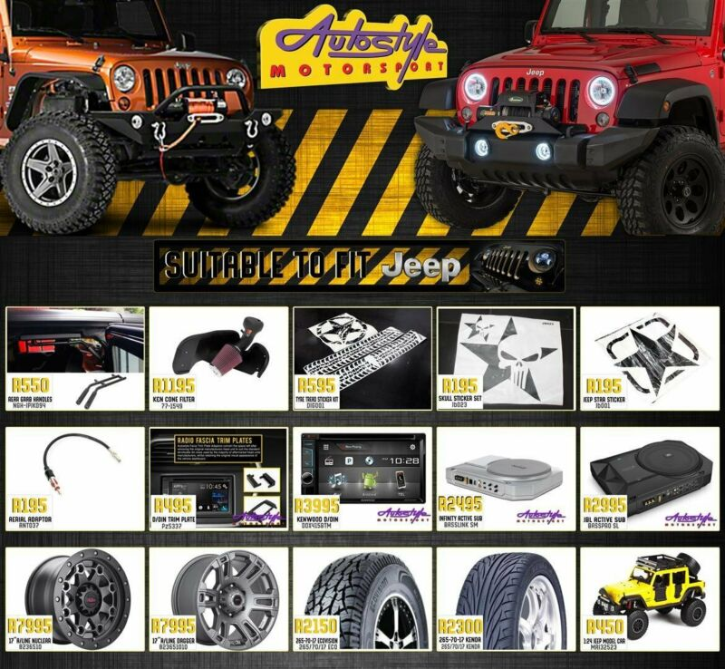 JEEP Wrangler, Sahara, Rubicon, 4x4, 4by 4, offroad, accessories, mags, tyres, audio, sound, etc etc
