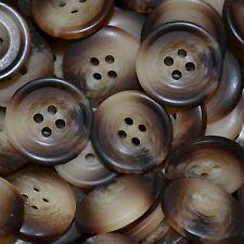 Set of 13 Light Brown Pimbo Suit Buttons - 3 Large (32 Ligne)10 Cuff (24 Ligne)