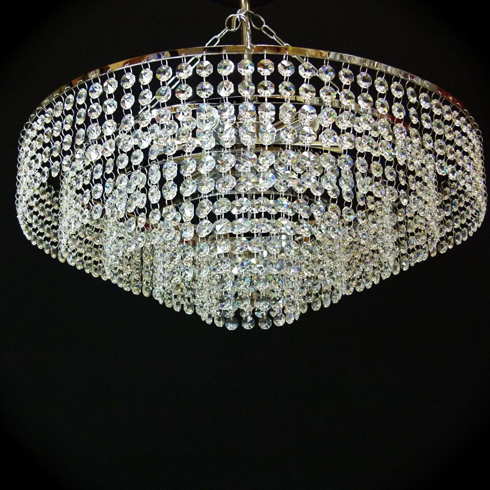 50cm Cromo Cristal De Plomo De Candelabro De Luz De Techo Iluminación Lámpara it-pl-50