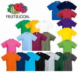 Abbigliamento Per Lo Sport Bambini 2 - 16 Anni Fine T-shirt Bambina/girl Fruit Of The Loom Maglietta A Manica Corta Nuova Originale Sale Price
