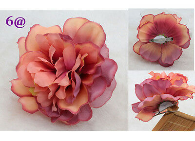 12CM Romantic 1pcs Silk Hair Accessory Flower Hairpin Prom Bridal Wedding Party