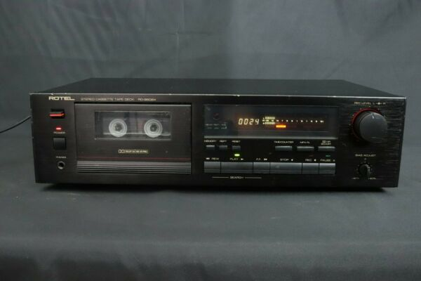 Behendig Rotel Rd-960bx Stereo Cassette Tape Deck From Squonk.co
