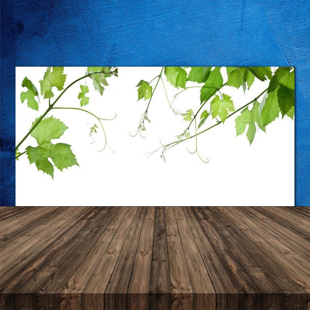 Crédence de cuisine en verre Panneau 120x60 Floral Branches Feuilles