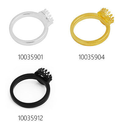 Round Pad 8mm Ring Bezel Cup,Crown Ring Blank Bases Setting Bases,5pcs