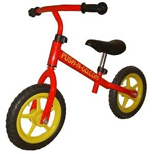 "GroßZüGig Push-n-go Kids Balance Bike - Very Light Weight - 12"" Wheels, Unisex, Red, Png2 Knitterfestigkeit"