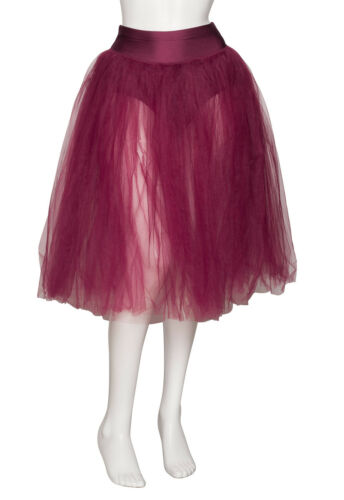 Girls Ladies Burgundy Romantic Ballet Dance Tutu Skirt By Katz Dancewear