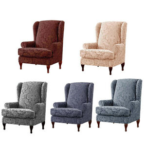 Stretch-Wing-Chair-Cover-Slipcover-Wingback-Armchair-Home-Furniture-Covers-US