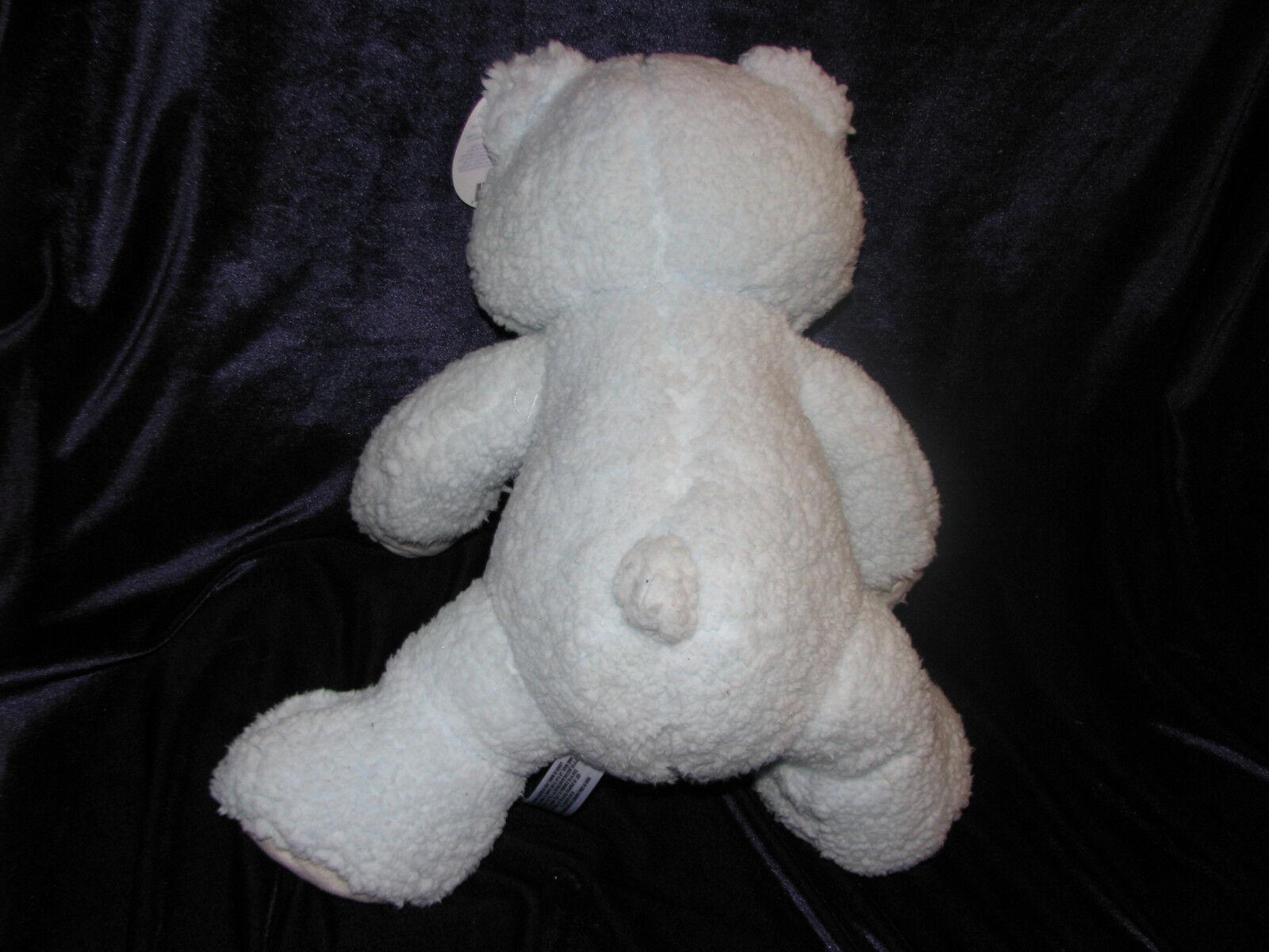 TOYS BABIES R US STUFFED PLUSH PLUSH PLUSH blueE SHERPA TEDDY BEAR SOFT CUDDLY NEW NWT 14  559ee3