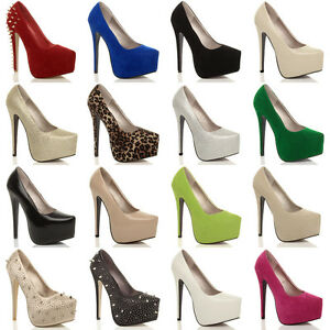 WOMENS-LADIES-HIGH-HEEL-CONCEALED-PLATFORM-PARTY-COURT-SHOES-PUMPS-SIZE