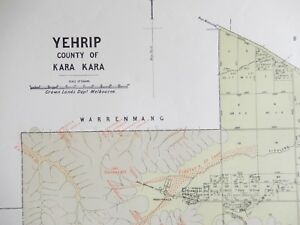 Details about [Map]. Yehrip, County of Kara Kara. Melbourne: Crown Lands  Dept., 1890s.