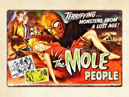 mole people 1956horror sci fi movie metal tin sign courtyard homes
