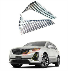 ABS Chrome Front Fog Light Lamp Cover Trim Molding For Toyota Sienna 2018-2020