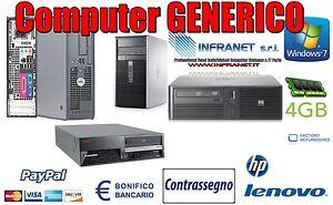 PC-COMPUTER-ECONOMICO-USATO-GARANTITO-FISSO-VARI-MARCHI-C2D-4-GB-160G-WINDOWS-10