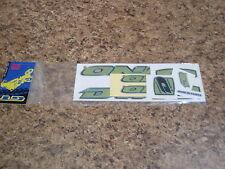 NOS VINTAGE 1998 GT DYNO AIR GREEN STICKER SET OLD SKOOL BMX FREESTYLE RACING