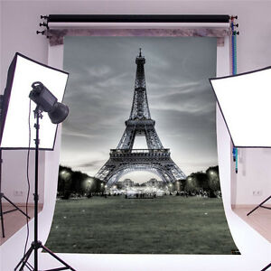 Eiffel Tower Baby Background Photo Props Children Photography Backdrops 5x7ft