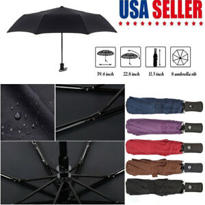 9aea88d9a8c2 Details about Full Automatic Umbrella Anti-UV Sun Rain Windproof 3 Folding  Compact Umbrella