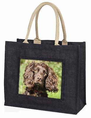 Schokolade Cocker Spaniel Hund große schwarze Einkaufstasche WEIHNACHTEN Prese ,